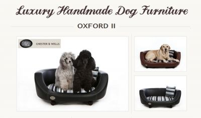 Chester And Wells Oxford Ii Faux Leather Dog Bed Uk Raised Dog Beds Stylish Pet Beds Dog Beds Uk