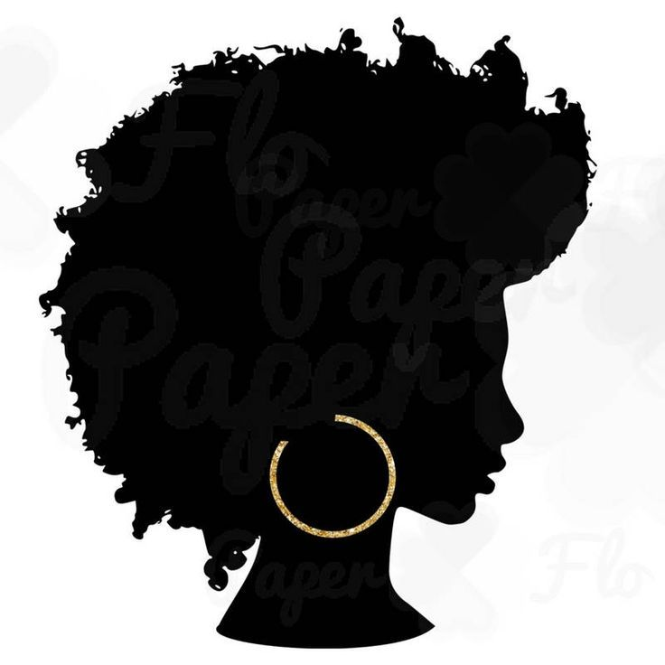 afro silhouette png gold hoops clip art black natural hair png files rh pinterest com natural black hair clipart african american natural hair clipart
