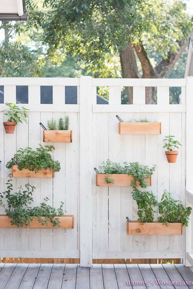 Our Under 40 Diy Outdoor Herb Wall