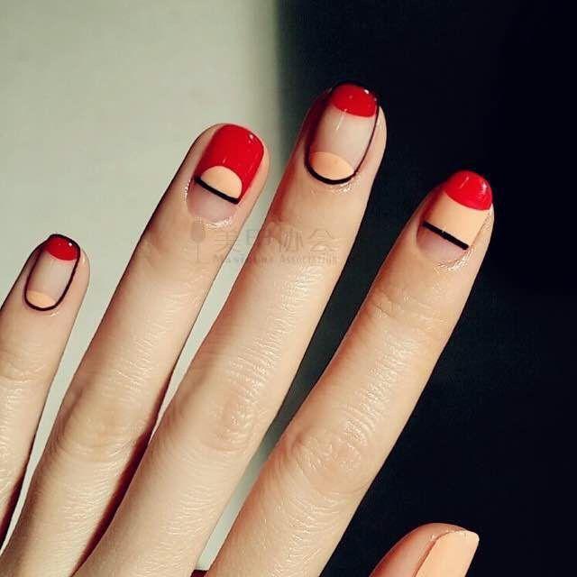 modern nail art - Modern Nail Art N A I L S Pinterest Modern Nails, Geometric
