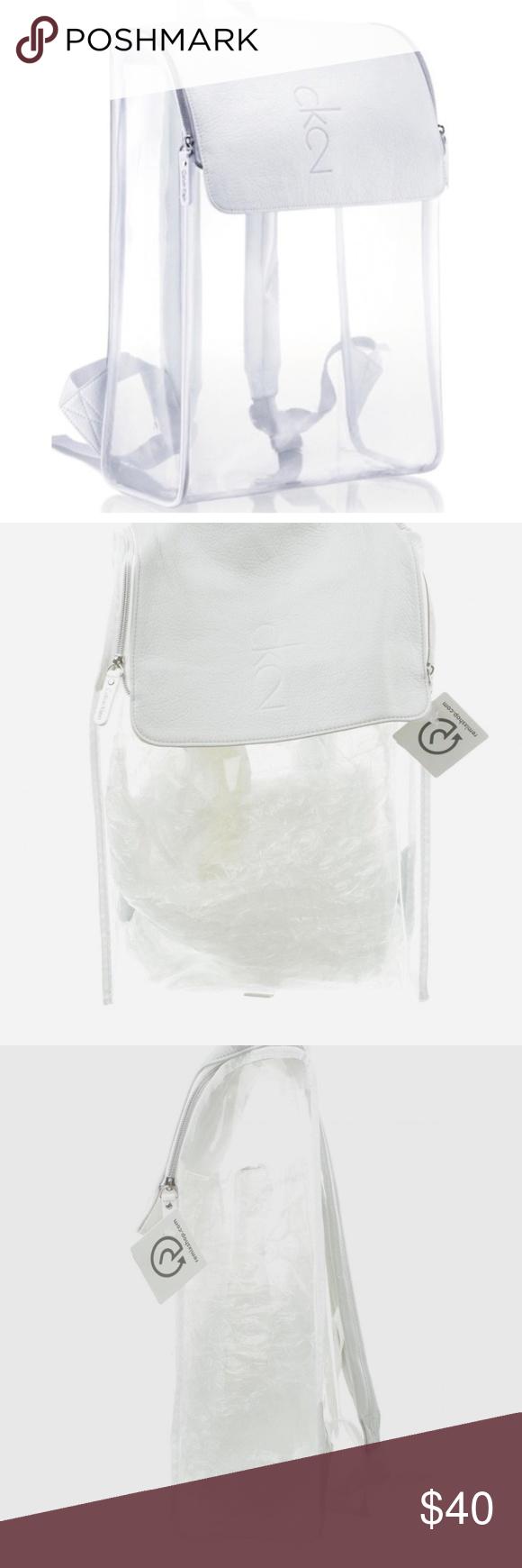 09f4f6c04693d3 NWT Calvin Klein CK2 Clear BackPack Bag Travel NWT Calvin Klein CK2 Clear  BackPack Hand Shoulder