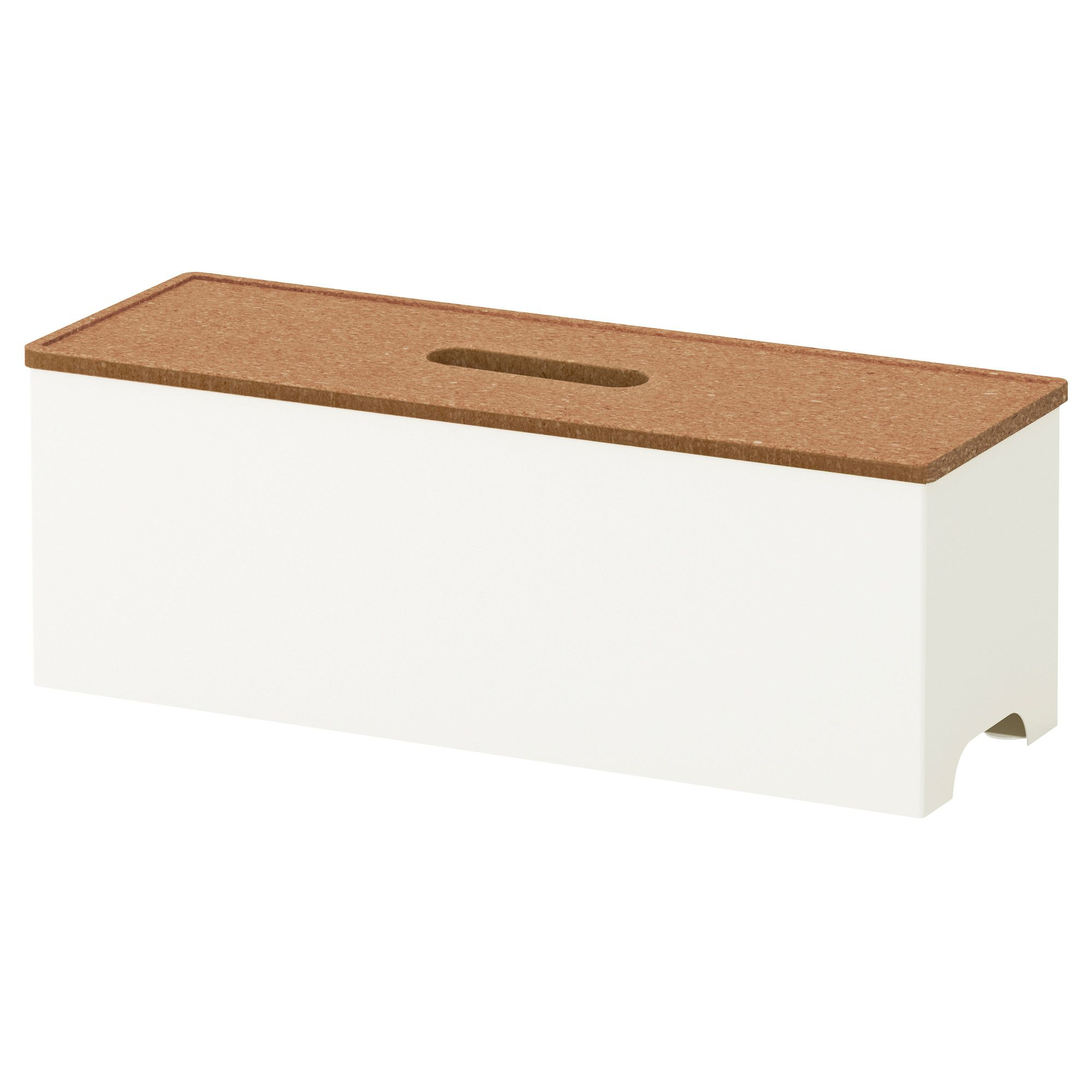 KVISSLE Cable management box cork white