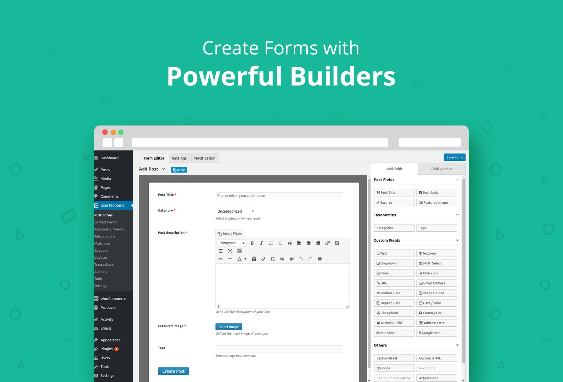 WP User Frontend – Membership, Profile, Registration & Post