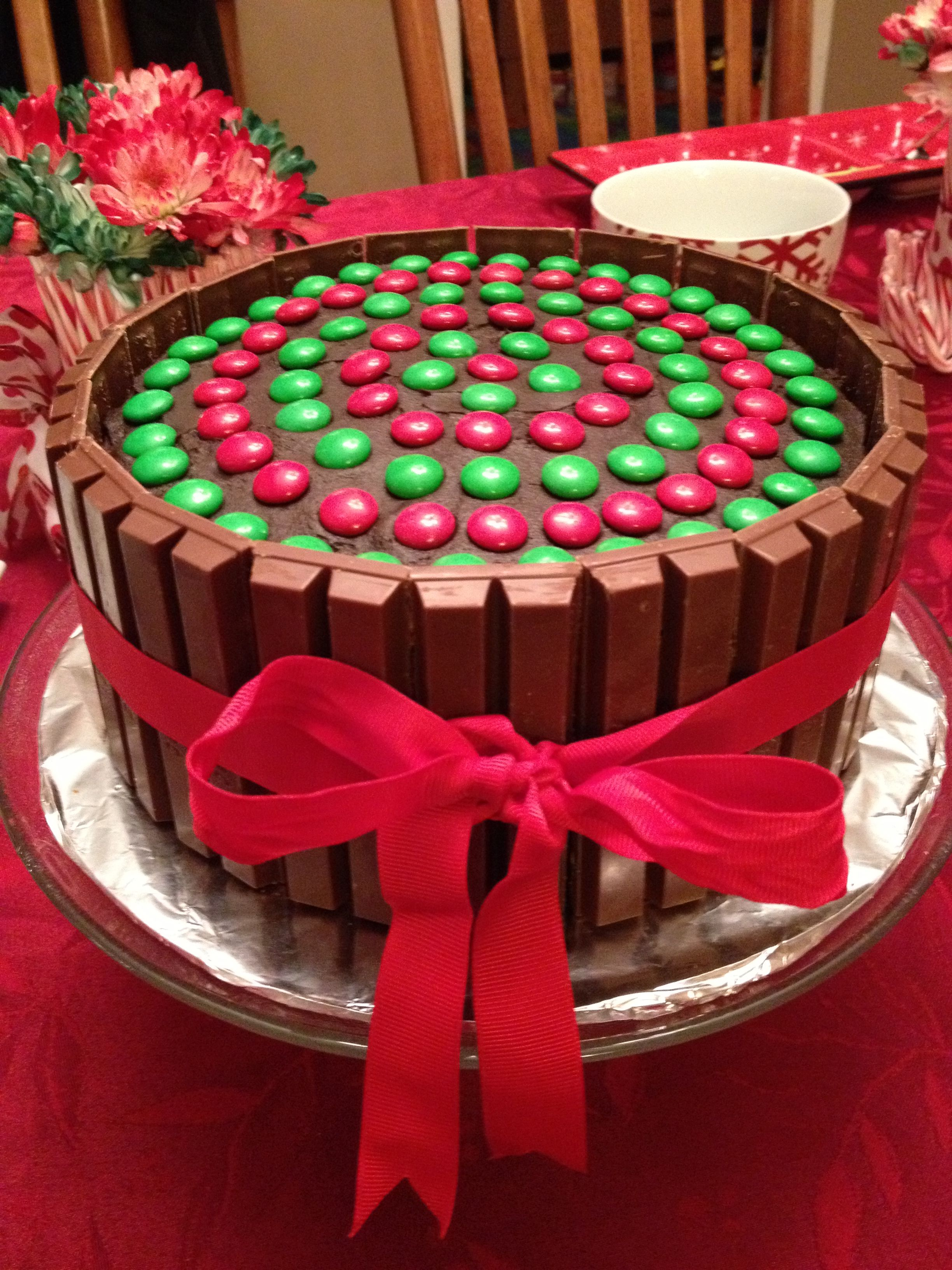 Cool Kit Kat Cake But W Recipients Favorite Colors With Images