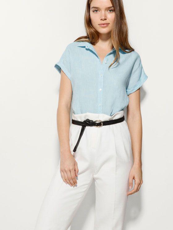 Camisas De Manga Corta de mujer lino | FASHIOLA.es