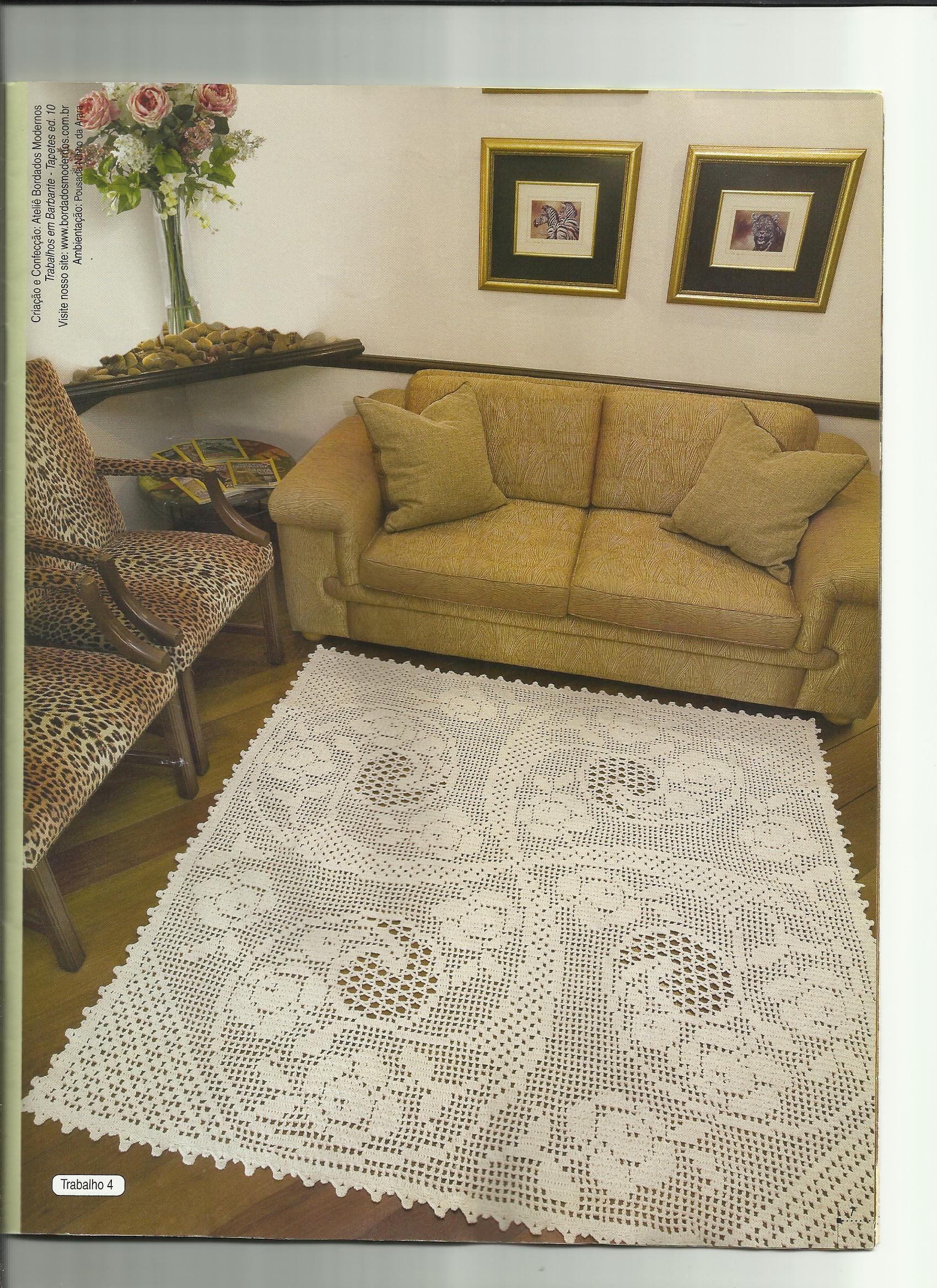 Tapete Para Sala Tejidos Pinterest Crochet Mat And Crochet -> Tapetes Para Sala Tejidos A Crochet
