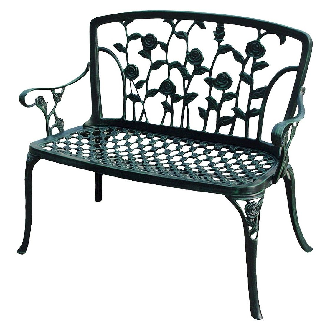 Christopher Knight Home Saint Kitts Cast Aluminum Patio Bench   Brown