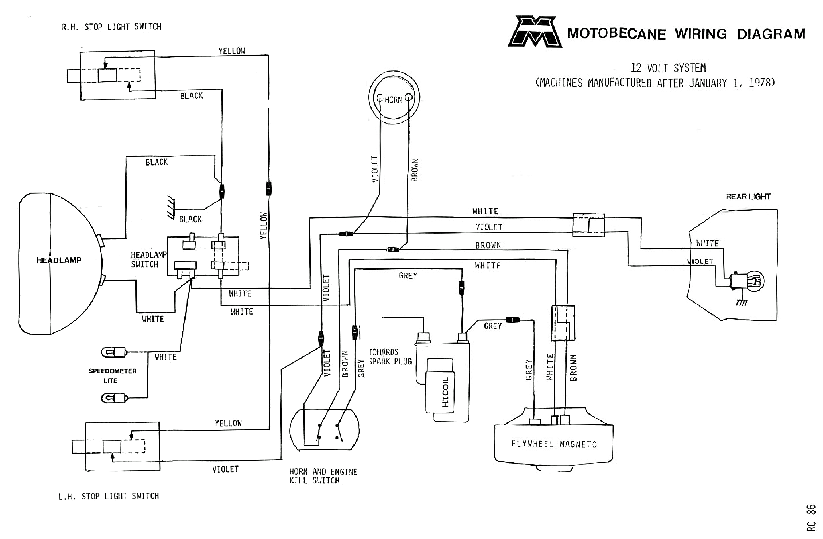 Motobecane Wiring Diagrams Mopedwiki Alternator Diagram Electrical Diagram