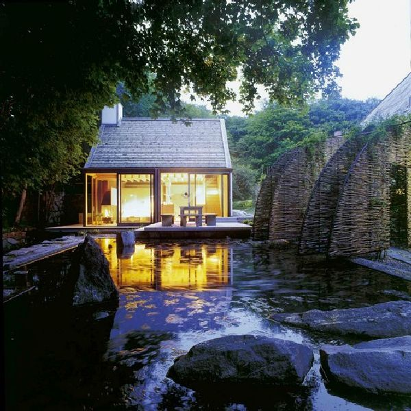 Wonderful Natural Pool Design In Small Vacation House With Private Steam Sauna And Pool Design Jpg 600 600 Small House Style Small House Design Sauna House