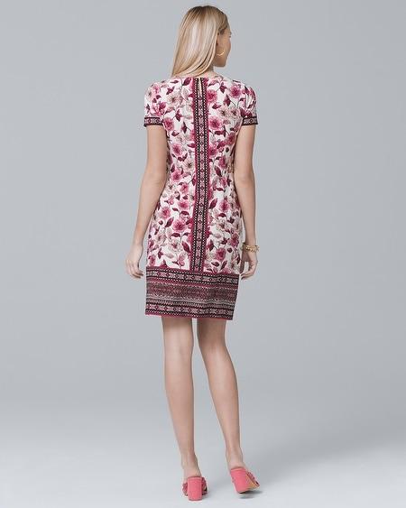 363839b14eb Women s Short-Sleeve Floral-Print Knit Shift Dress by White House Black  Market