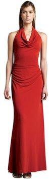 Nicole Miller Coral Halter Gown Dress #nicolemiller #maxi