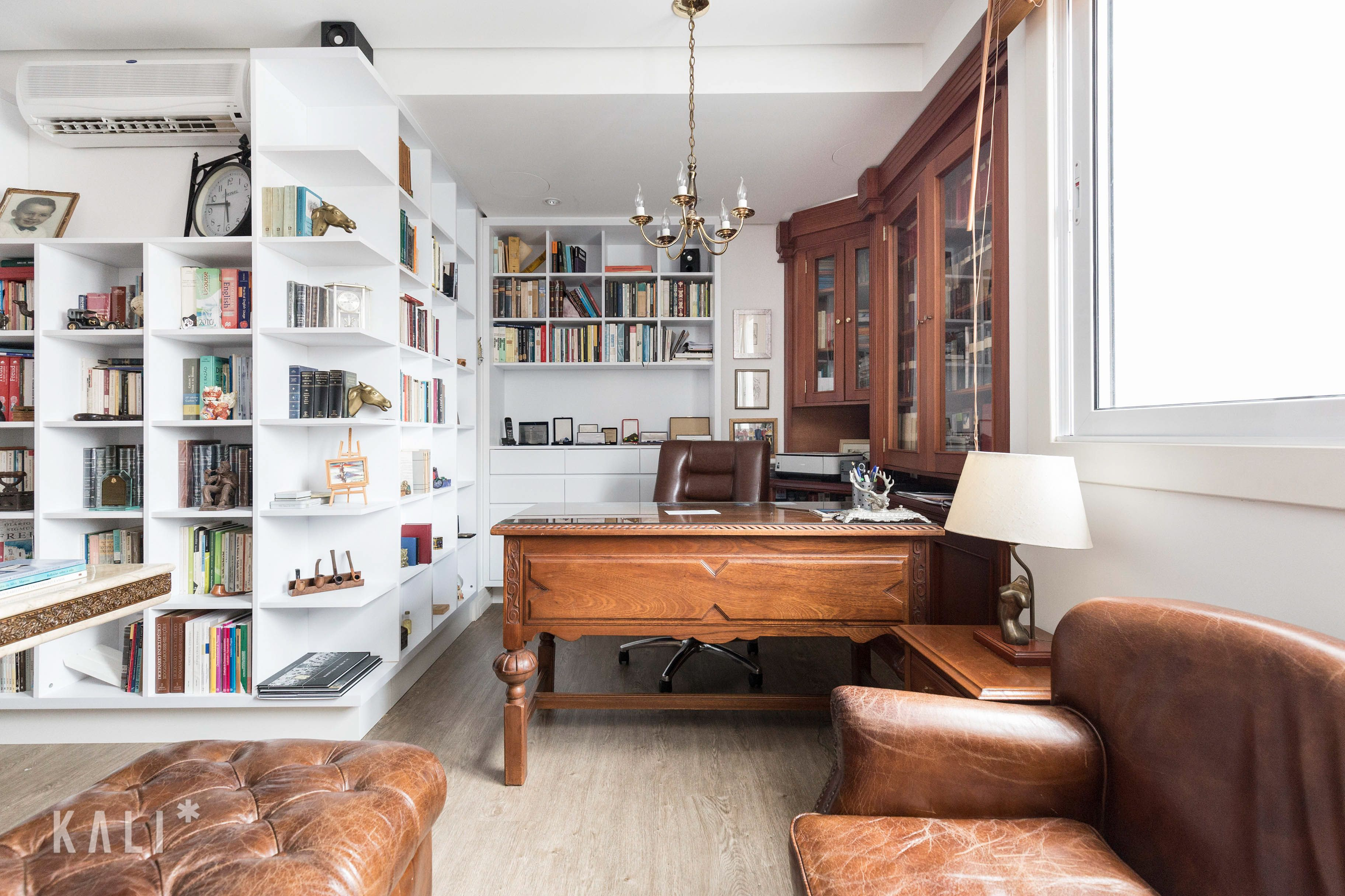 Home Office   Library Design   Wood Furniture   Leather Chair E Quem Disse  Que Para