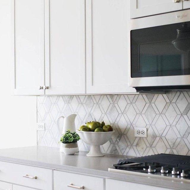 Tempesta Neve Polished Wheaton Marble Mosaic Tile 12 X 15 In The Tile Shop Backsplash Tile Design The Tile Shop Kitchen Plans