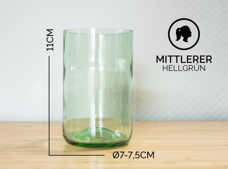 Gläser - MITTLERER / Ø 7-7,5CM / HELLGRÜN (Glas / Becher) - ein Designerstück von Glaeserne_Transparenz bei DaWanda