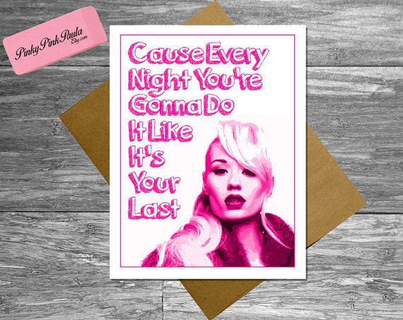 Iggy Azalea Card Thank You Best Friend 21st 30th by PinkyPinkPaula, $4.95