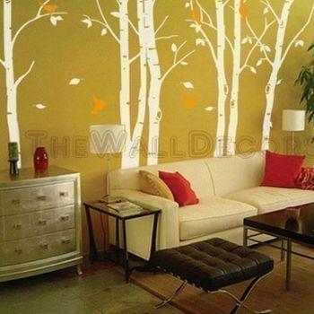 Custom Listing -- Birch Forest - $69.00 : Kids Wall Decals, tree ...