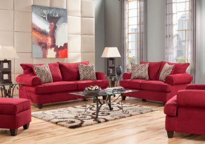 Love large RED FURNITURE for my living room! I prefer red leather ...