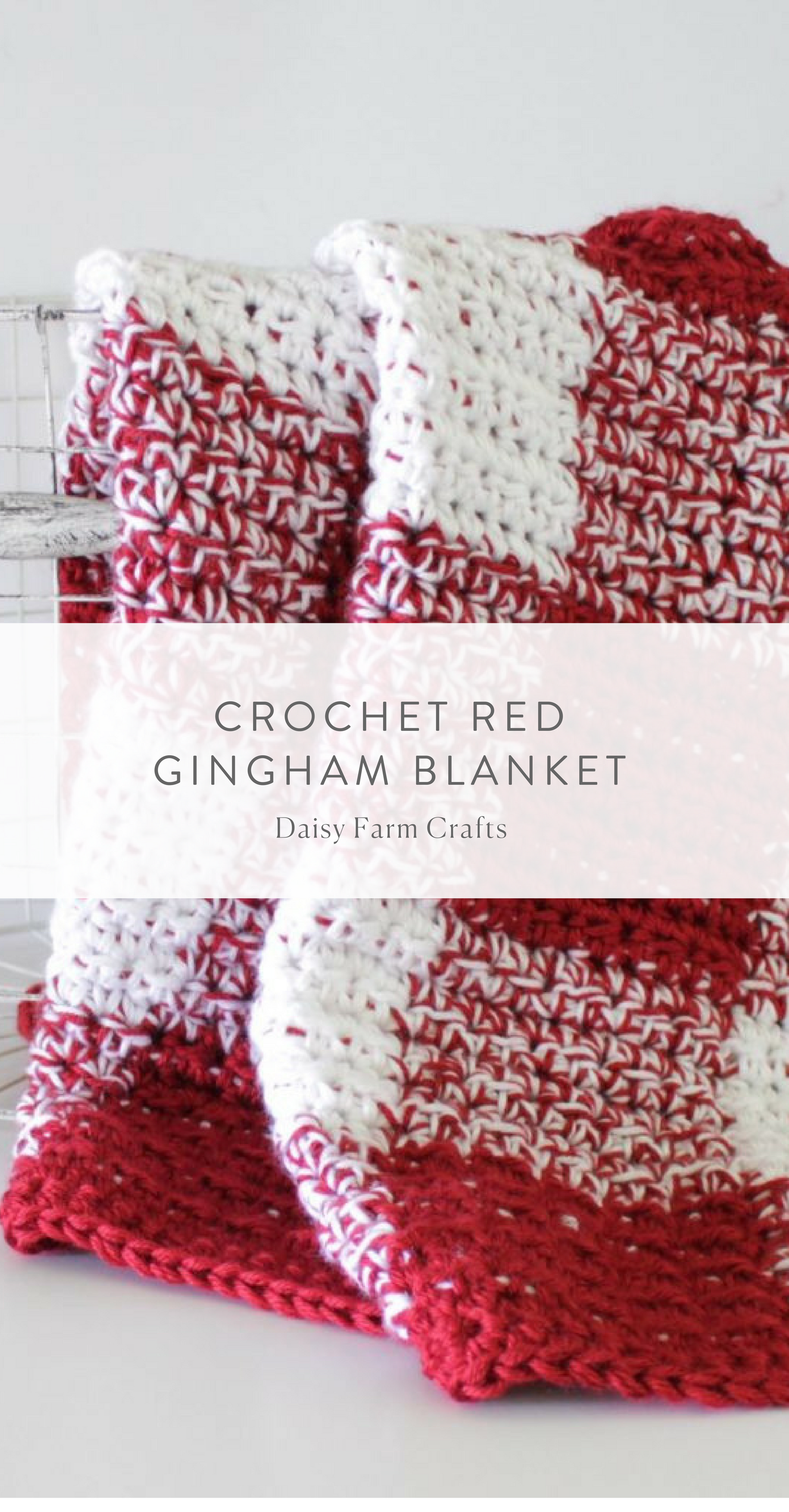 Free Pattern - Crochet Red Gingham Blanket | aphgans | Pinterest ...
