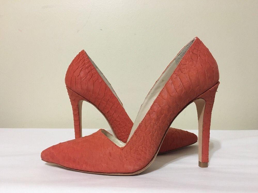 6260e399a095 Alice Olivia Dina Sunset Orange Women s Heels Pumps Size EU 36.5   US  6.5 M