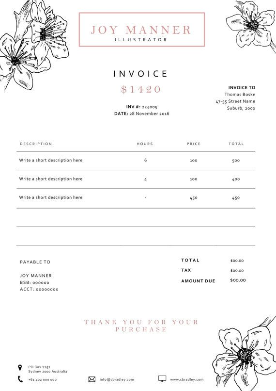 Invoice template Receipt template Invoice by EmandCoDesign Office - what is invoice