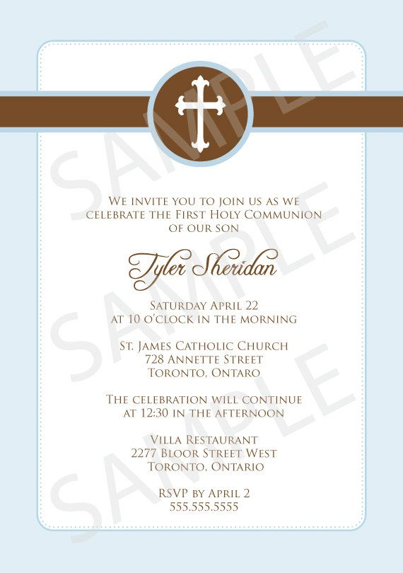 Simple First Communion Baptism Christening Or Confirmation