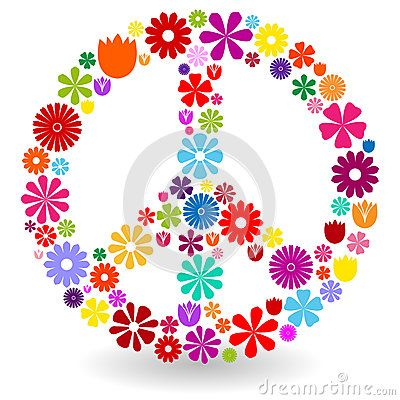 Peace sign made of flowers | Beez dezigns | Pinterest | Peace ...