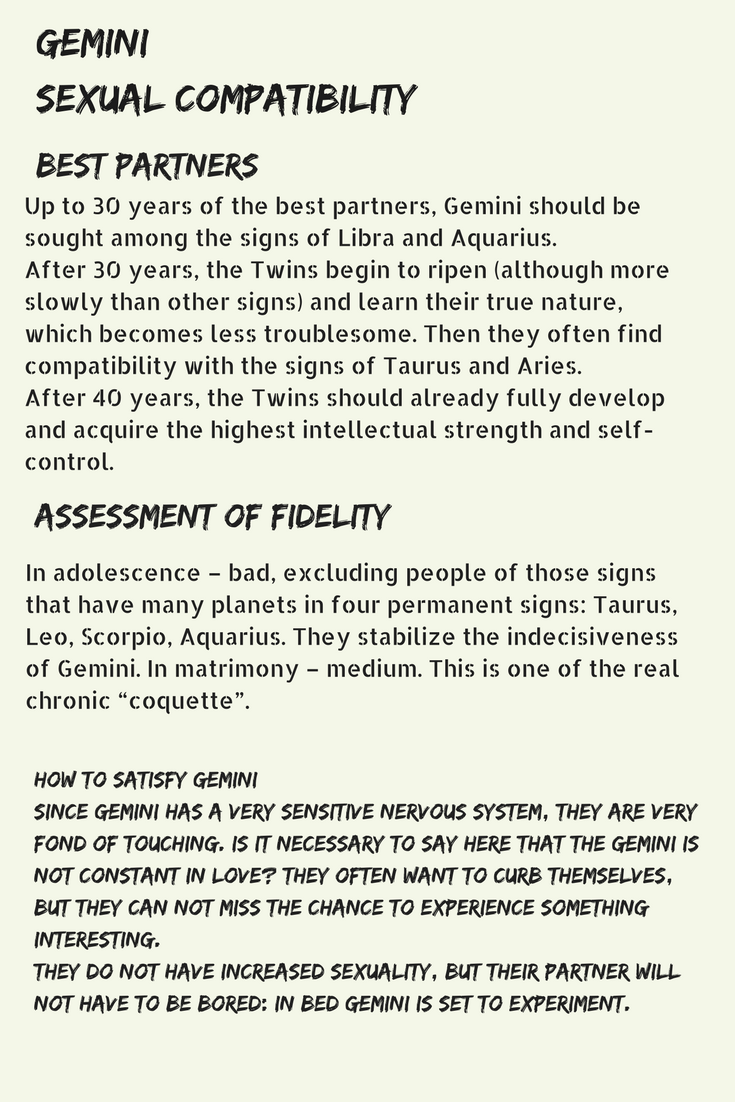 Aquarius gemini sexual compatibility
