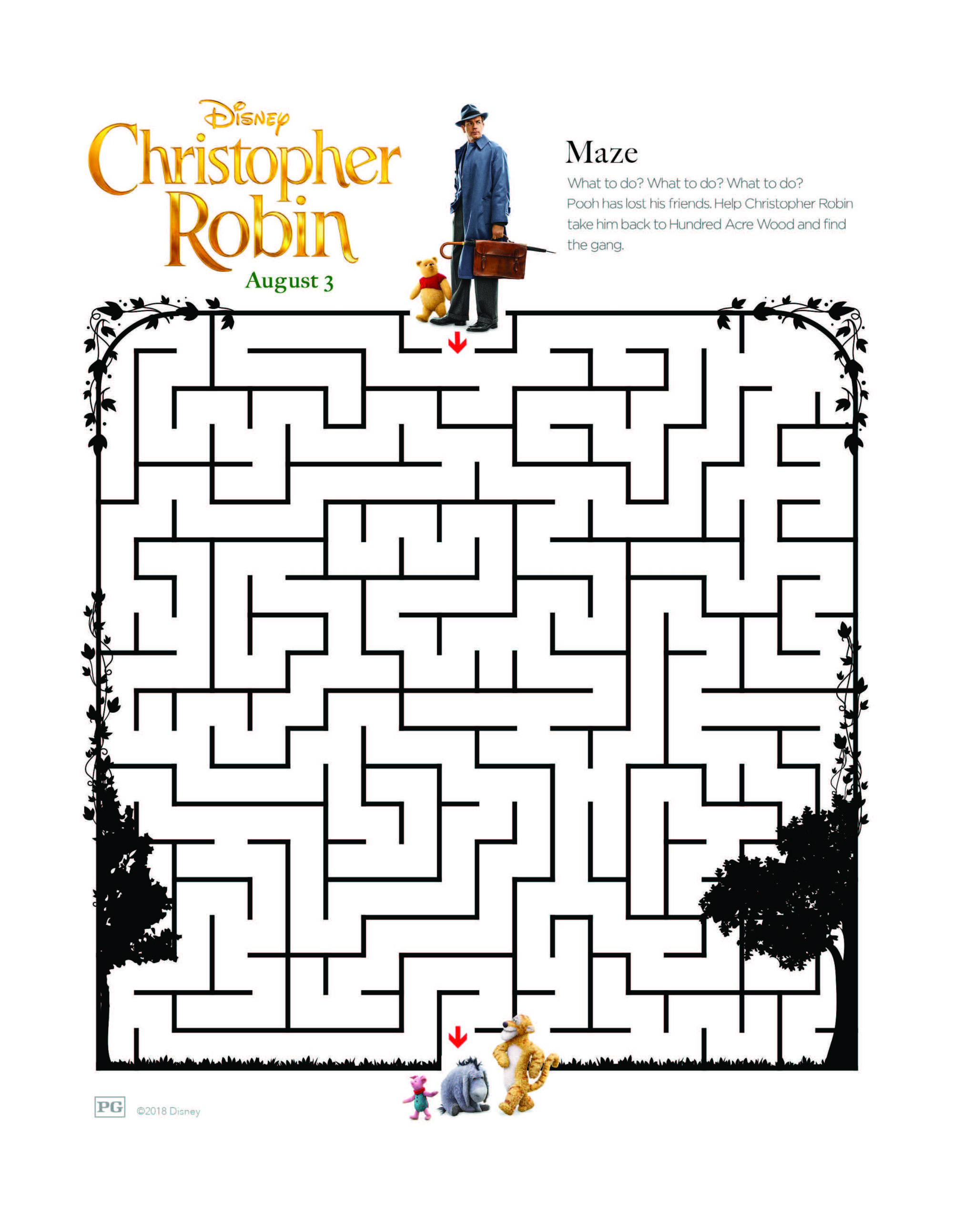 CHRISTOPHER ROBIN Coloring and Activity Pages | Simple Sojourns ...