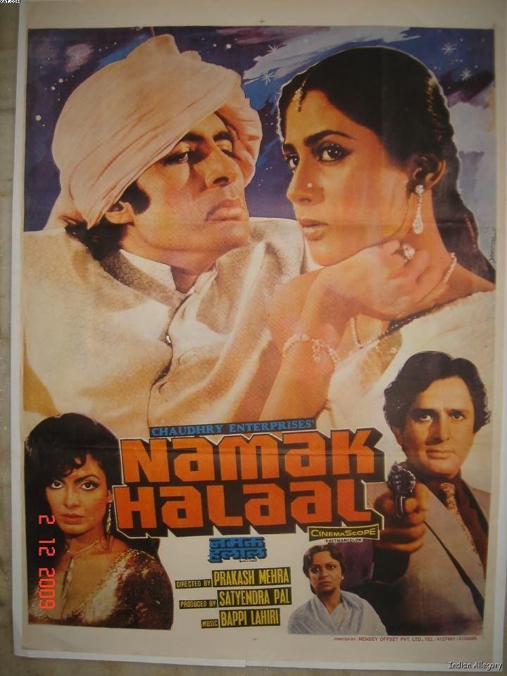 Namak Halal 1982 This Movie Staring Amitabh Bachchan Shashi Kapoor Smita Patil And Parveen Babi Was Direct Bollywood Posters Cinema Film Bollywood Cinema