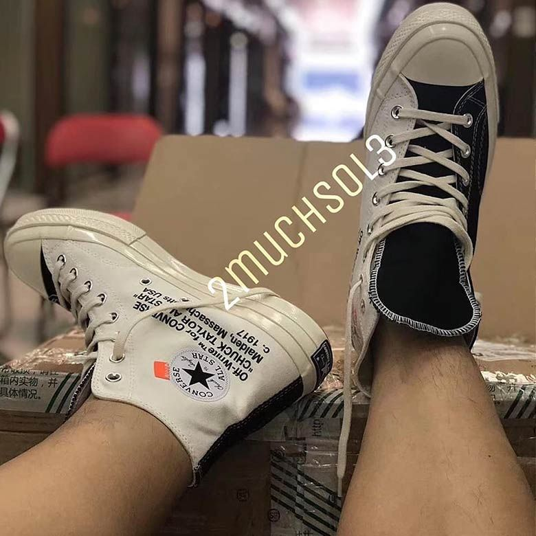 New Images Of The Off-White x Converse Chuck Taylor In Black And White  Emerge 51b3a851b