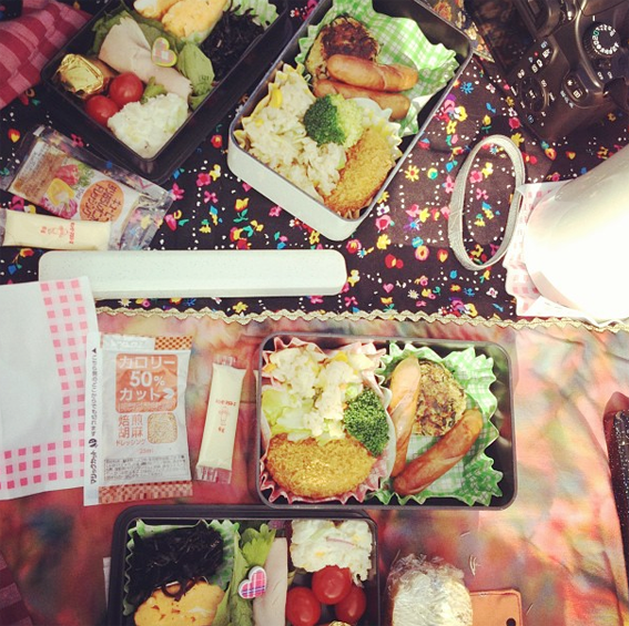 hello sandwich: Winter Valentines Day Picnic in Setagaya Koen