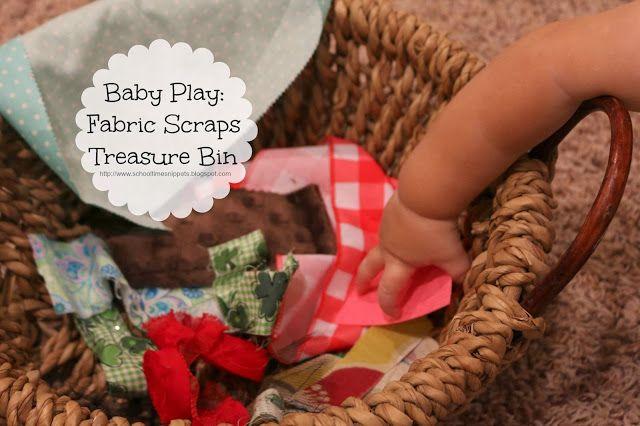 Fabric Scraps Treasure Bin