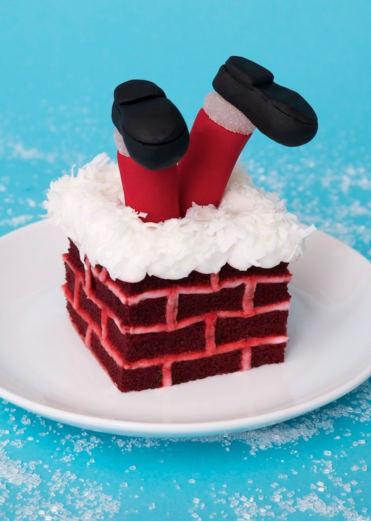 Santa s in the chimney cake christmas ideas pinterest Santa stuck in chimney cake