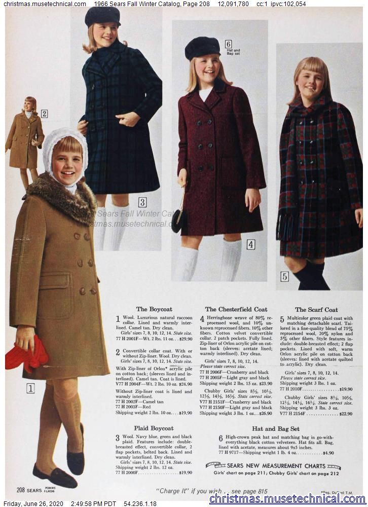 1966 Sears Fall Winter Catalog, Page 208 - Christm