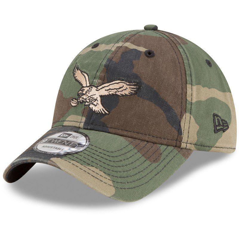 1b3a9886f8bb25 Philadelphia Eagles New Era 9TWENTY Core Classic Adjustable Hat – Woodland  Camo