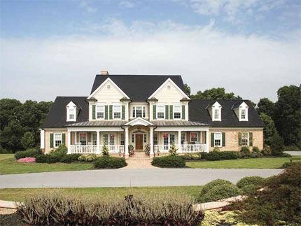 Four Bedroom Farmhouse Home Plan With Twin Gables Bays And A Wide Porch Eplans Com H With Images Farmhouse Style House Plans Farmhouse Style House House Plans Farmhouse