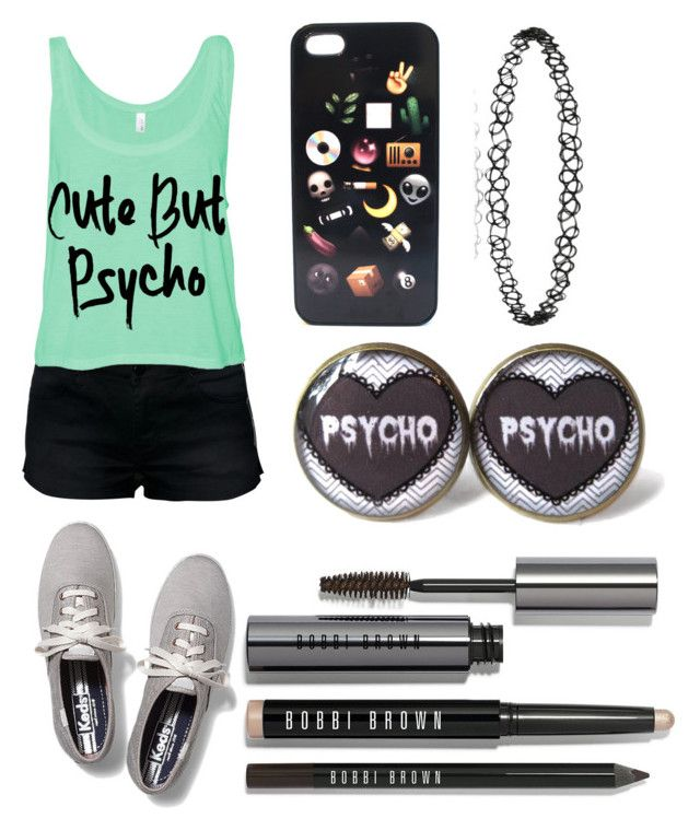 """cute butt psycho"" by shellandciara on Polyvore featuring Keds and Bobbi Brown Cosmetics"