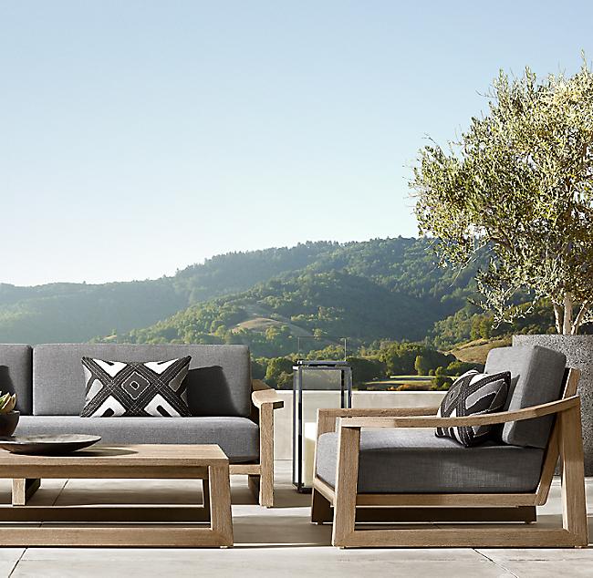 90 Sebastian Sofa Teak Patio Furniture Teak Lounge Chair Small Patio Furniture