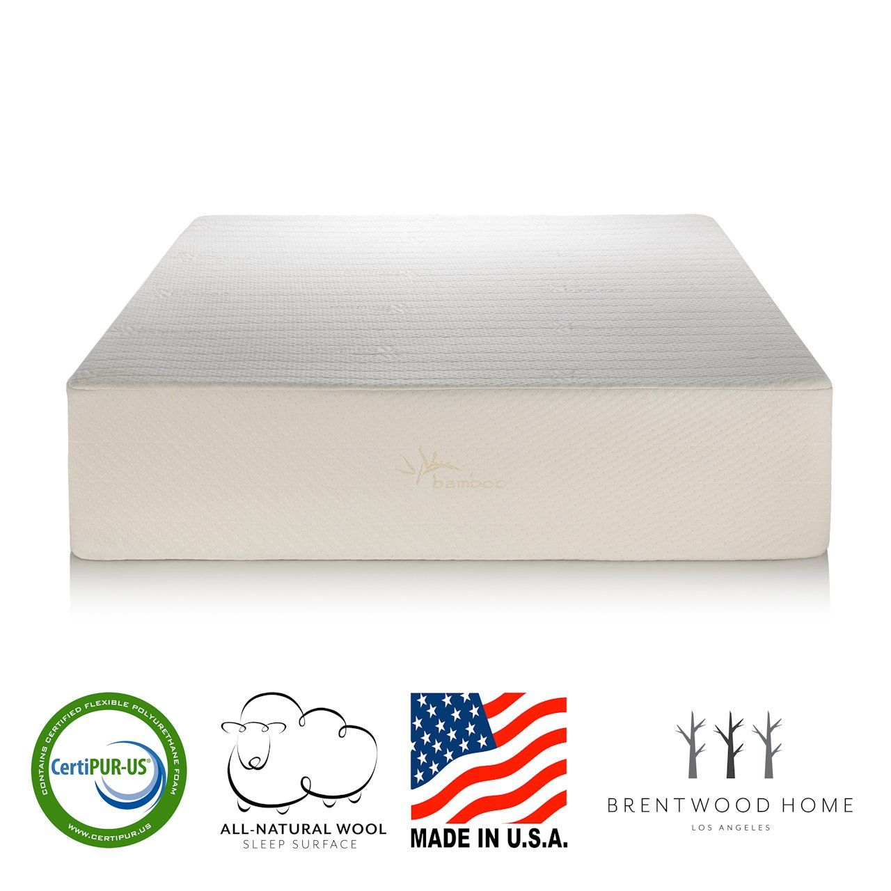 Brentwood Home Cypress Mattress Bamboo Derived Rayon Cover Gel Memory Foam Made In Usa 11inch Twin Memory Foam Mattress Foam Mattress Hybrid Mattress Reviews