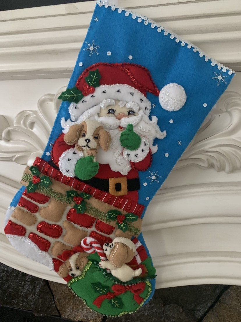 When Is Christmas In July 2020 Celebration On Etsy Bucilla Santa's Secret Stocking plus free shipping | Etsy in 2020