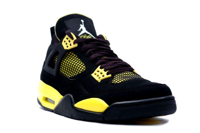 save off 3f099 f561d Nike Air Jordan 4 IV Retro Thunder Black Tour Yellow 2012