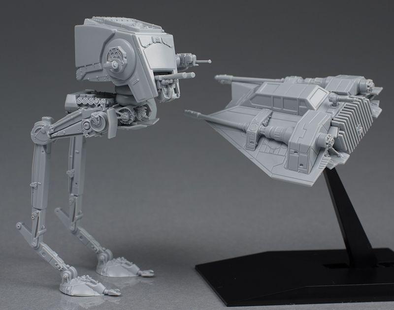 [Full review] Bandai x Star Wars Vehicle Model 008: AT-ST and SNOWSPEEDER.  http://www.gunjap.net/site/?p=319244