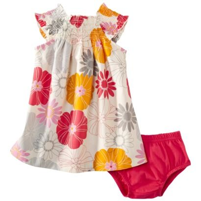 JUST ONE YOU ™ Made by Carters ® Infant Girls Floral Dress - Khaki/Pink.Opens in a new window
