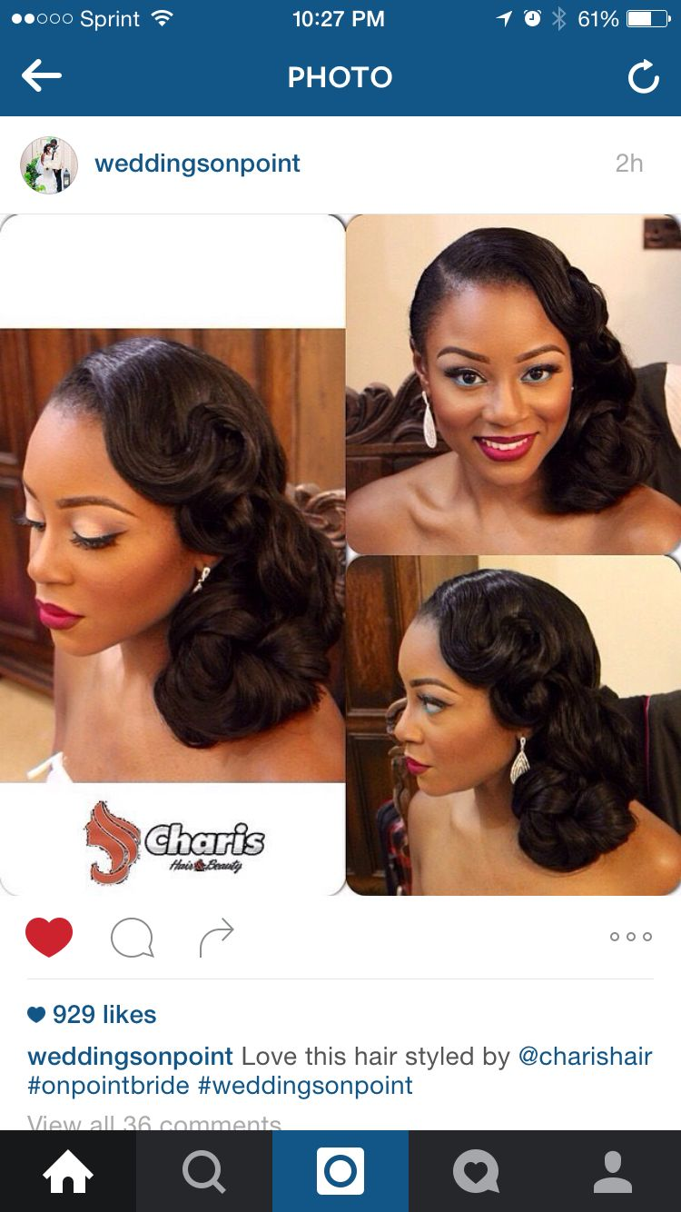 Beautiful Pin Up For The Bride Weddings On Point African American Wedding