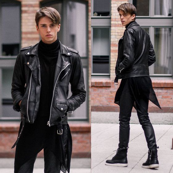 Georg Mallner - Shusta Leather Jacket, House Of Widow Ghostly Sweater, Hugo Boss Coated Pants, Dr. Martens Jayvon - December 19, 2014