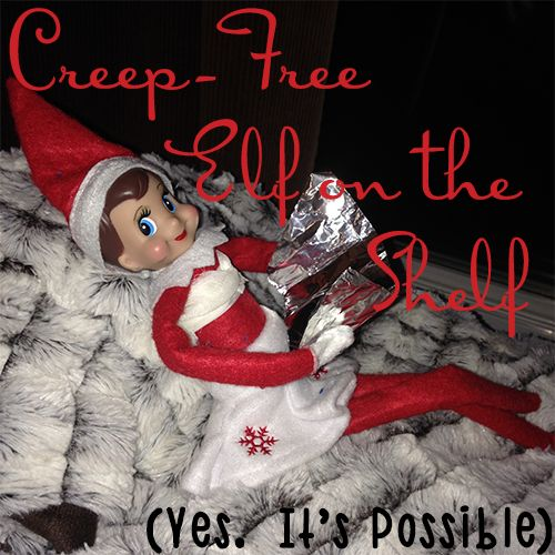"""As a mom, I want to make the holidays as magical as possible for my kids...and I love he Elf on the Shelf.   We aren't religious so I won't be using it to bring """"Jesus"""" into our home, but I refuse to make it a creepy thing either.   I think I've managed to create a Creep-Free elf experience for my girls and this link to my blog posts of ideas will give all of you moms a place to find magic instead of creepdom."""