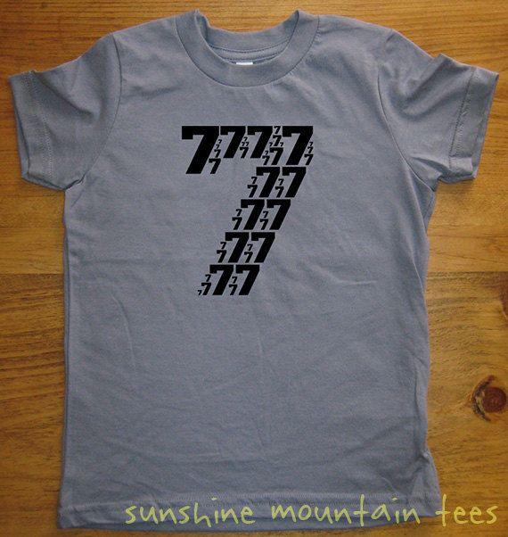 a10607b51ff5 Birthday Shirt - 7 year old shirt - 7th Birthday - Number Shirt - Birthday  Boy, Birthday Girl - Party - Kids Tshirt Size 8 - Gift Friendly