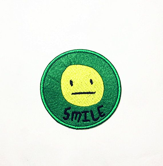 smile patch Emoticons patch Graffiti Style patch beautiful patch for gift embroidered patch iron on patch sew on patch