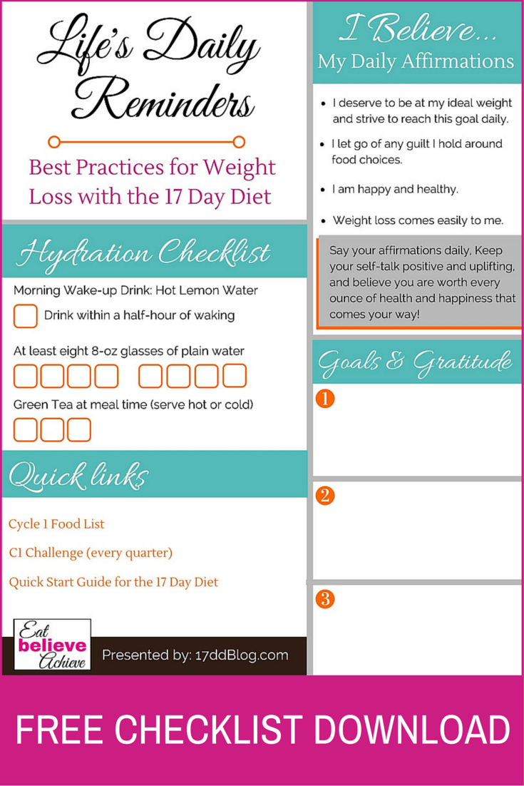 7 Tips To Stay Motivated With The 17 Day Diet Free Pdf Download