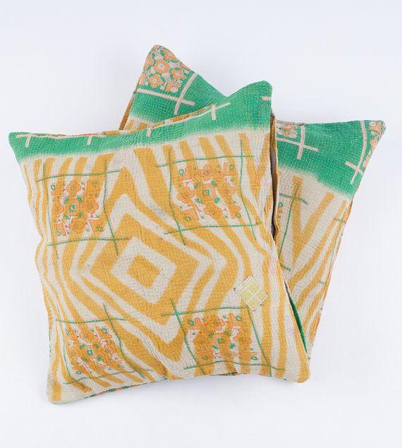 2 Vintage Quilt Pillows